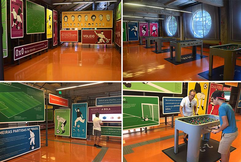 Sala interativa no Museu do Futebol