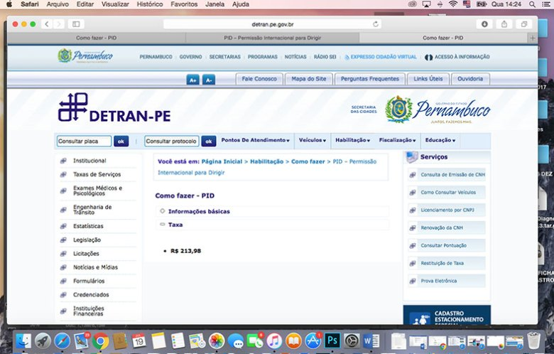 Quanto custa emitir a PID em Pernambuco
