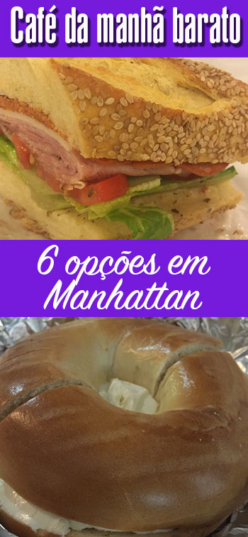 Onde tomar café da manhã barato em Manhattan