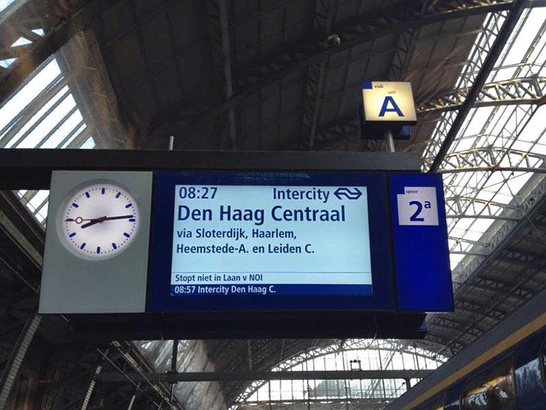 Estação central de trem de Amsterdam