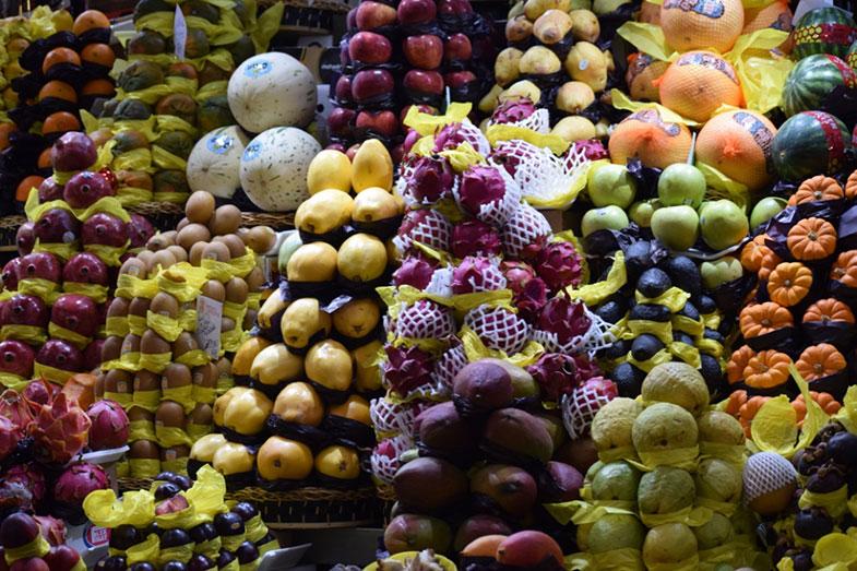 Boxe de frutas do Mercadão