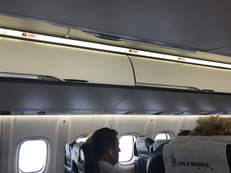 Bagageiro do ATR da Olympic Air na Grécia
