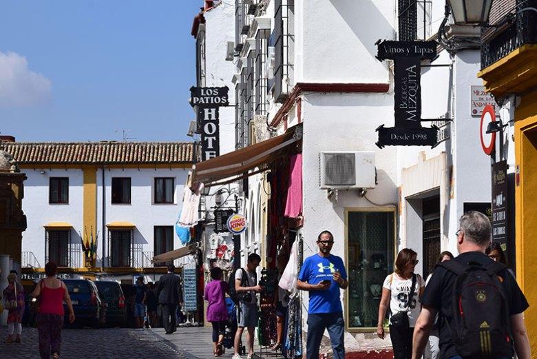 Ruas do centro histórico de Córdoba