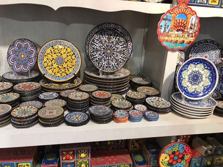 Loja de souvenirs em Córdoba