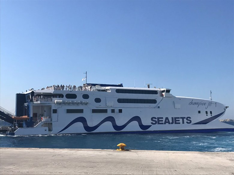 Ferry na Grécia