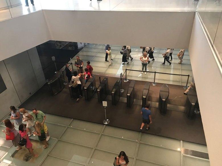 Segundo pavimento do Museu da Acrópole de Atenas