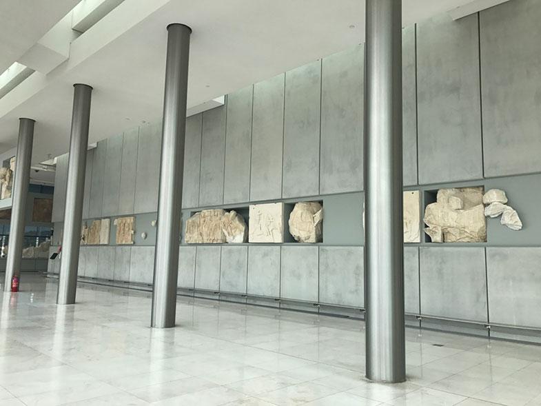 Sala do Partenon no Museu da Acrópole de Atenas