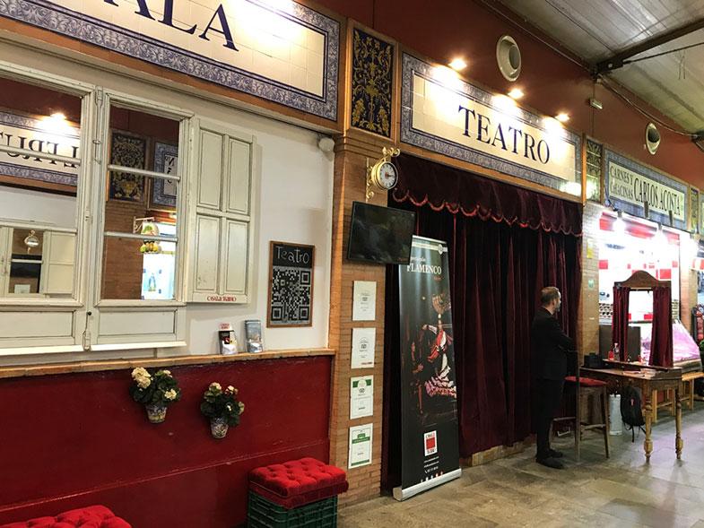 Teatro no Mercado de Triana em Sevilha