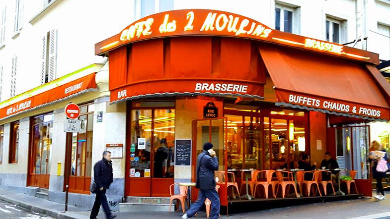 Café Deux Moullins em Montmartre