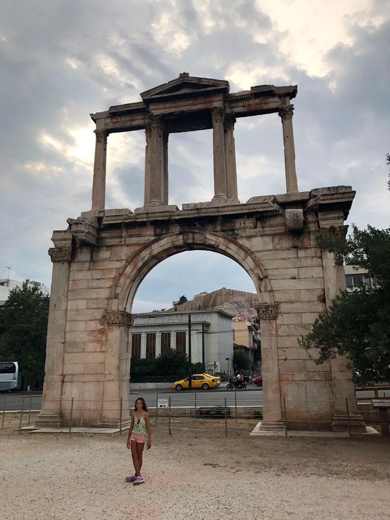 A Porta de Adriano em Atenas
