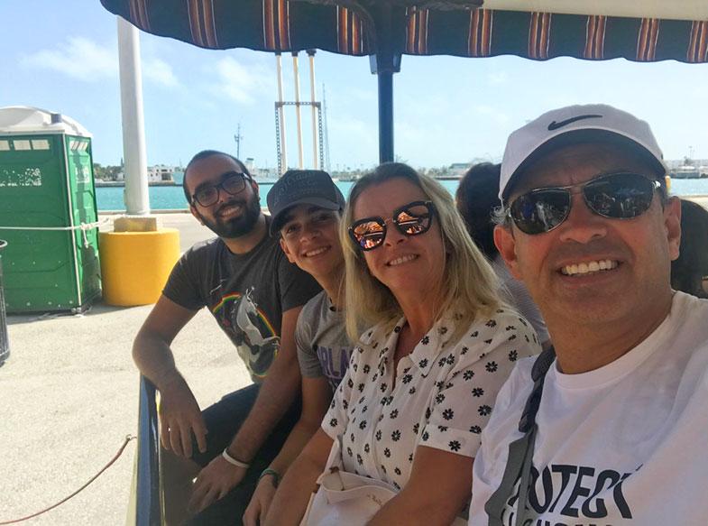 Trenzinho em Key West