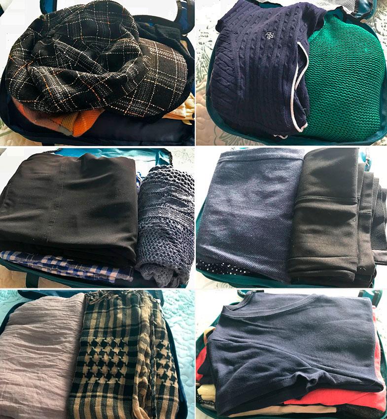 Minhas roupas para uma mala de inverno