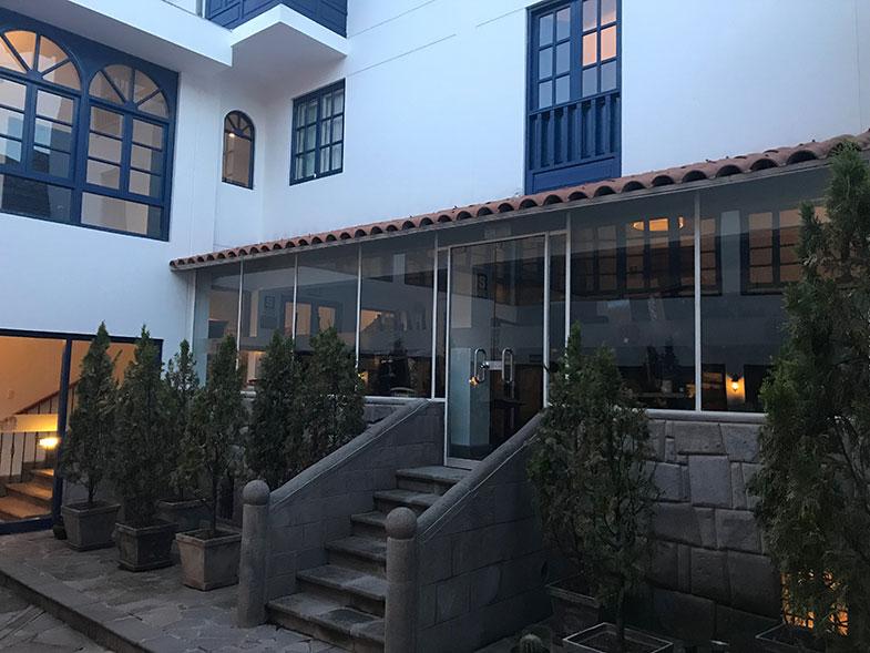 Restaurane num dos hotéis em Cusco