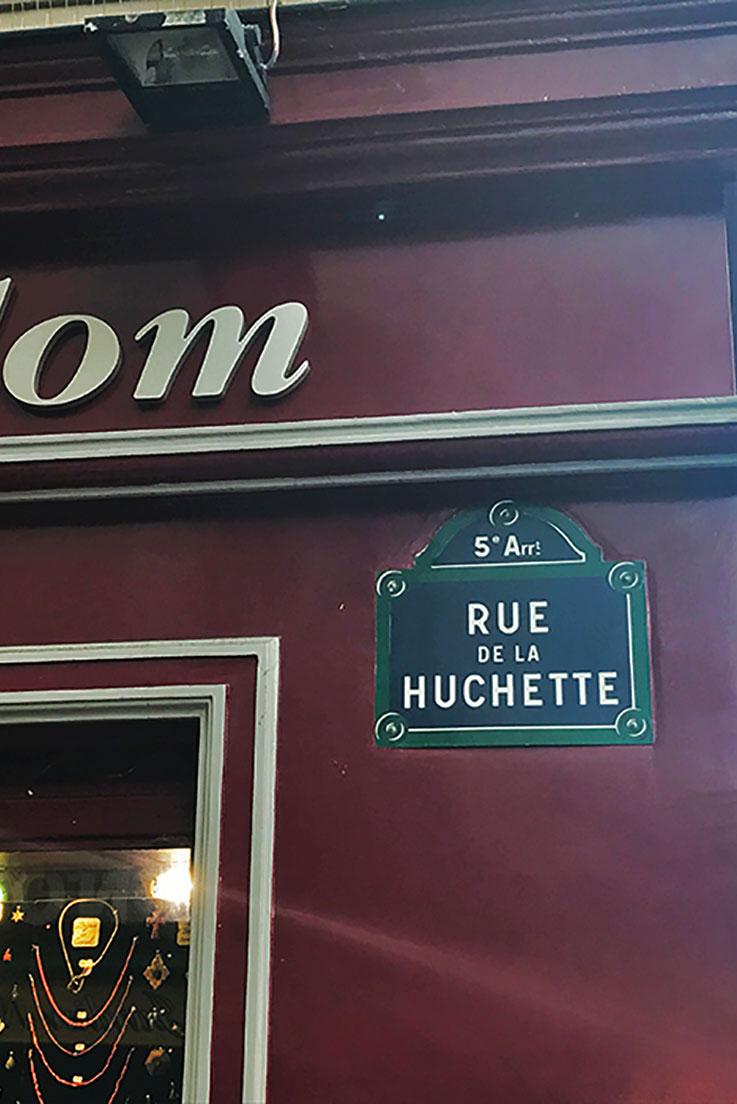 Rue de la Huchette em Paris