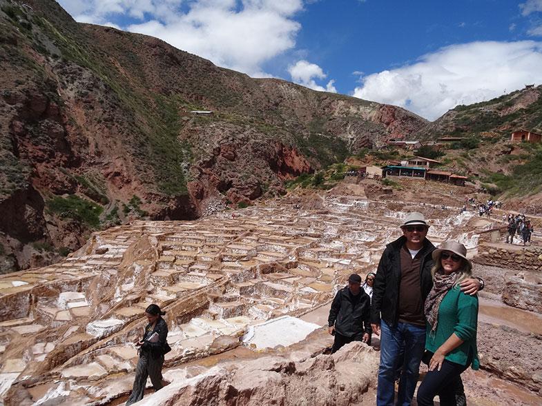 Salineras de Maras numa viagem para o Peru