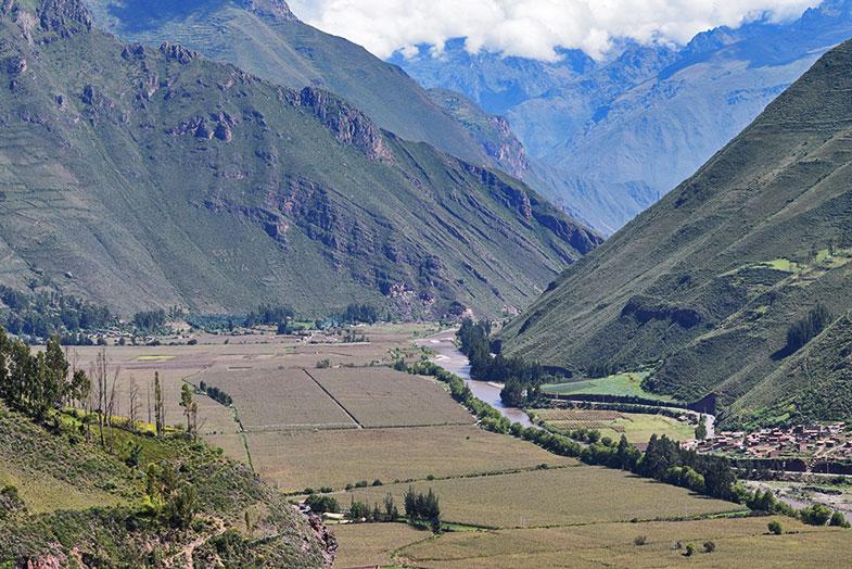 Vale Sagrado num viagem para o Peru