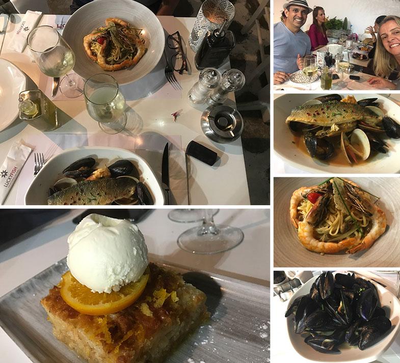 Culinária grega deliciosa em Mykonos