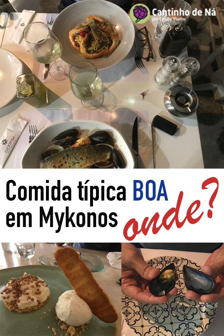 Culinária grega maravilhosa em Mykonos
