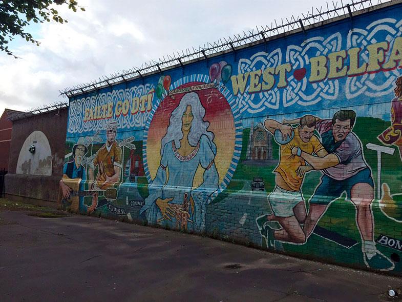 Street art em Belfast