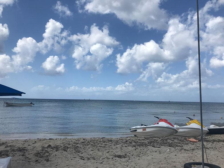 Praia tranquila em Cozumel