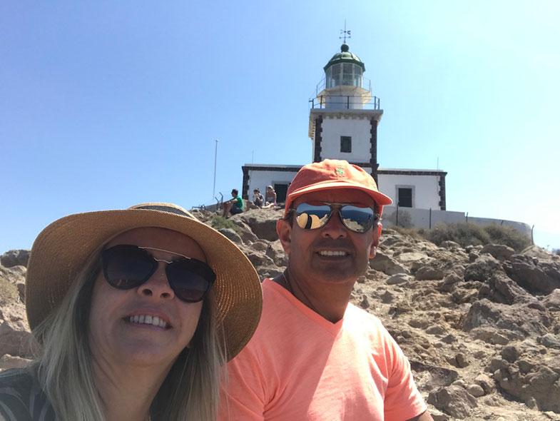 Farol de Akrotiri ou Akrotiri Lighthouse em Santorini