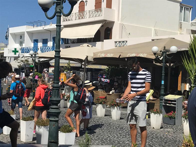 Centro de Thira capital de Santorini
