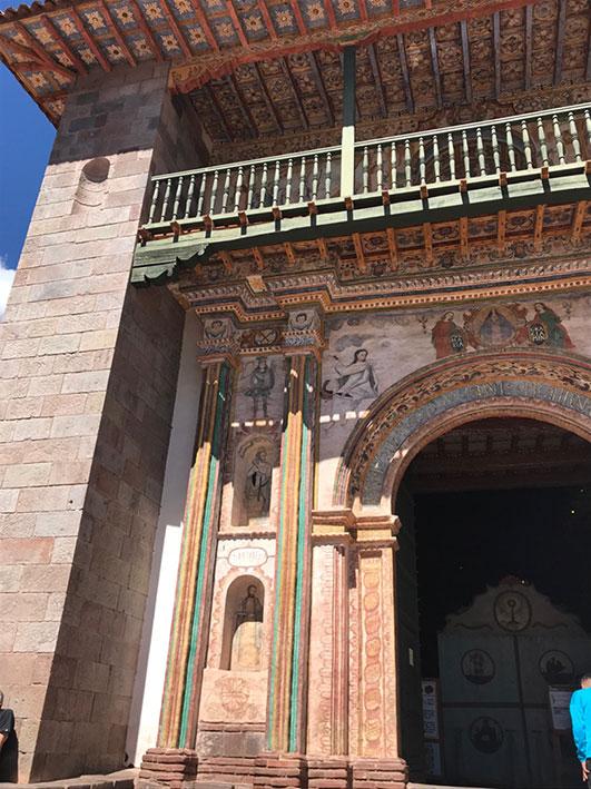 Detalhe do portal de entrada da Capela Sistina das Américas