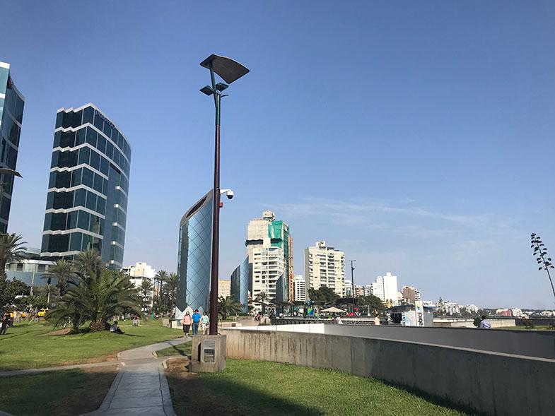Miraflores durante uma conexão em Lima