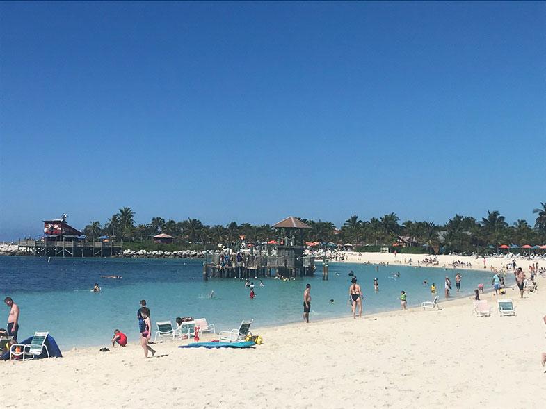 Praia na ilha particular da Disney