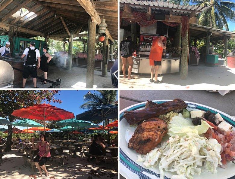 Almoço em Serenity Bay na ilha particular da Disney