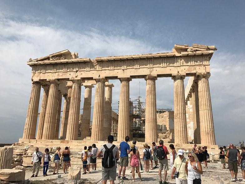 Pártenon na Acrópole de Atenas