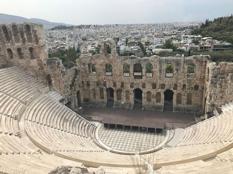 Odeon de Herodes Ártico na Acrópole em Atenas