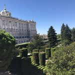 Palácio Real e Jardim de Sabatini em Madrid