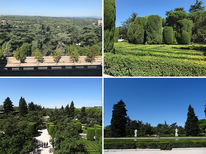 Vista do Jardim de Sabatini ao lado do Palácio Real de Madrid