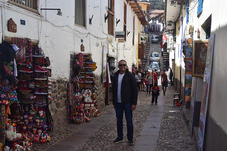 Rua da Pedra dos 12 ângulos em Cusco