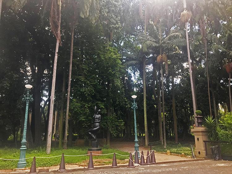 Parque da Luz ao lado da Pinacoteca