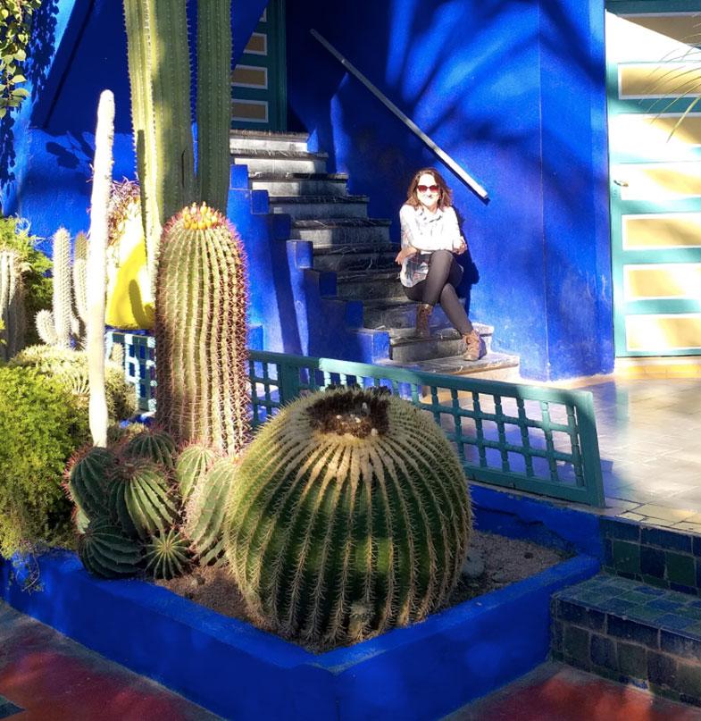 Jardim de Yves Saint Laure no Marrocos
