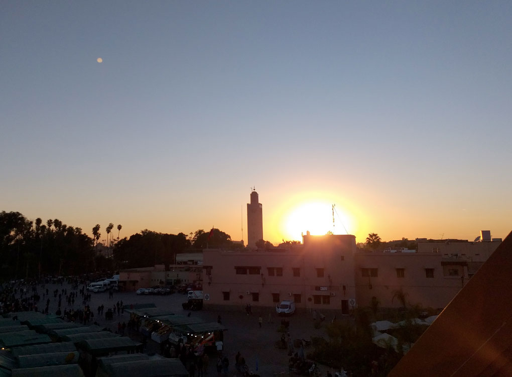 Por do sol no Marrocos