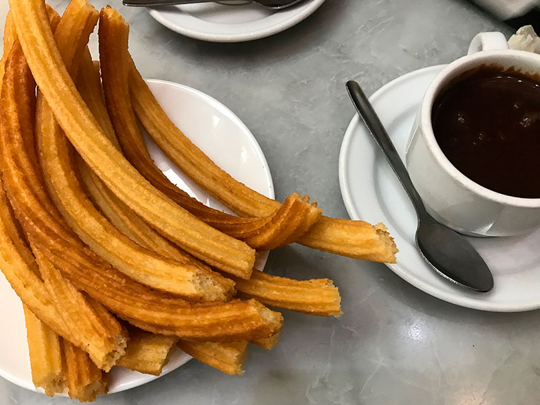 Comidas típicas da Espanha Churros