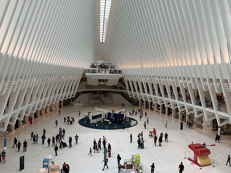 Estação Oculus em New York por dentro