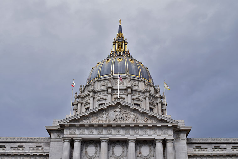 City Hall no Civic Center de San Francisco