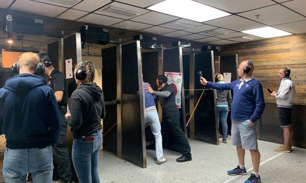 A surpreendente experiência num clube de tiros em Las Vegas