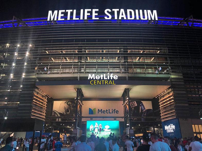 Jogo de futebol no MetLife Stadium em New York