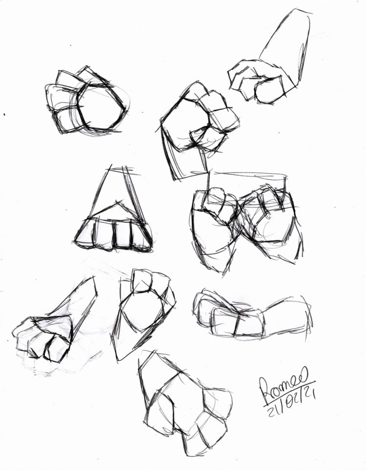 Patinhas simplificadas em formas