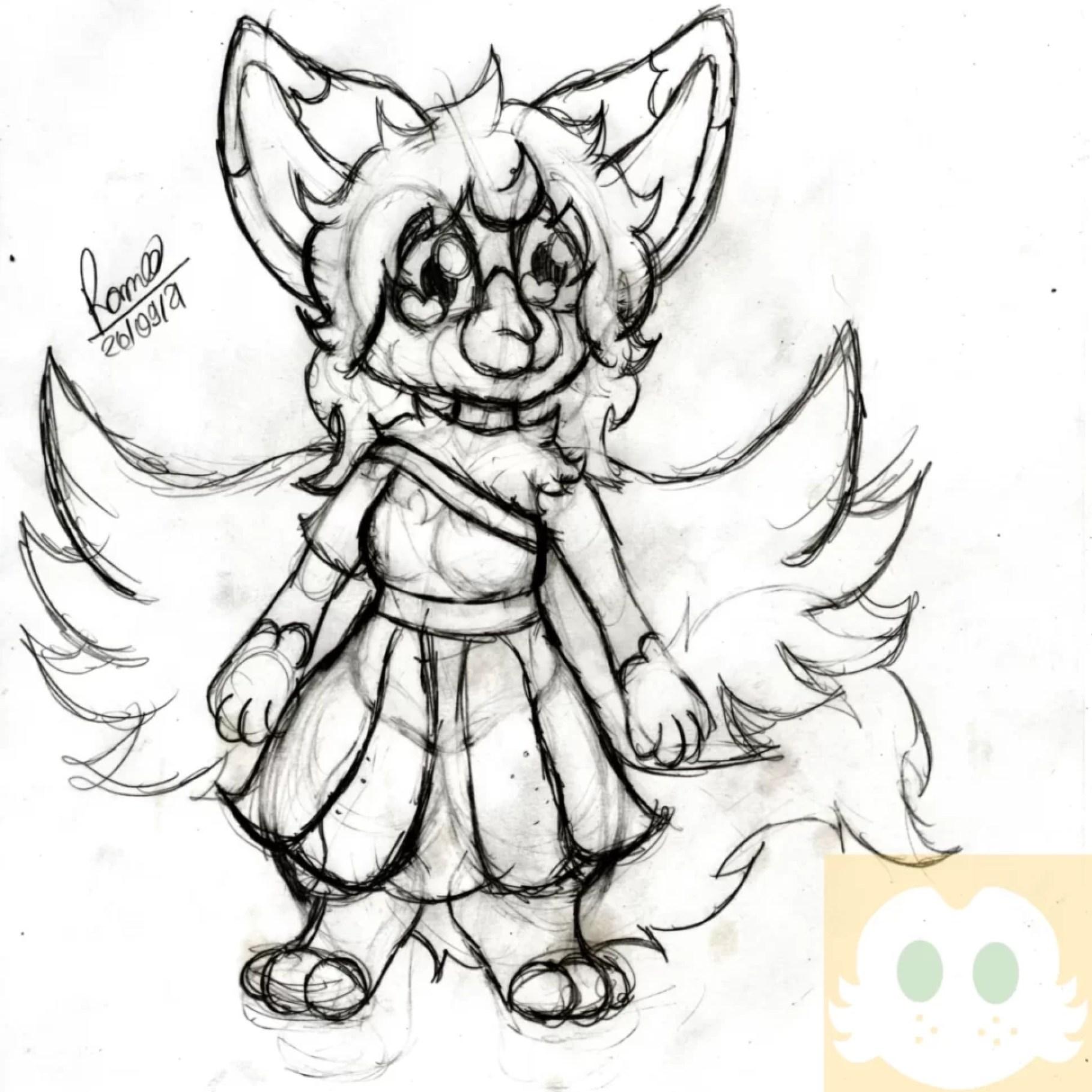 Desenho da Amber com as Roupas