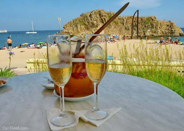 Sangria at Can Tirol in Blanes