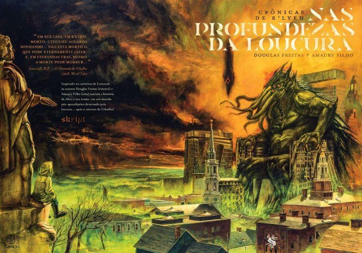 Crônicas De R'lyeah Nas Profundezas Da Loucura - Douglas Freitas - Amary Filho - Skript Editora - Canto do Gárgula