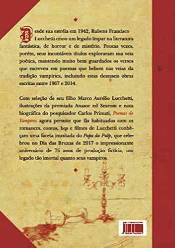 Contracapa do livro Poemas de Vampiros, de R. F. Lucchetti.