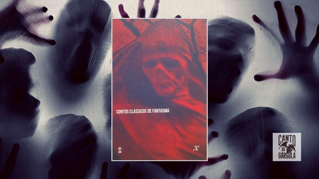 Capa do livro com pessoas atrás de um tecido, pressionando-o com a cara e as mãos, simulando fantasmas