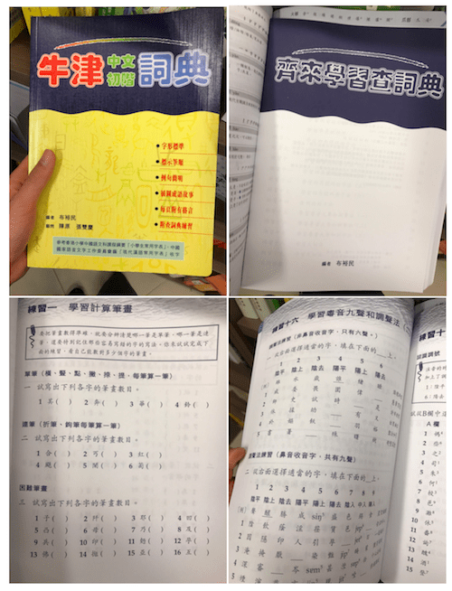 How to use a Chinese dictionary booklet